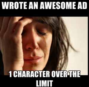 AdWords Funny Characters