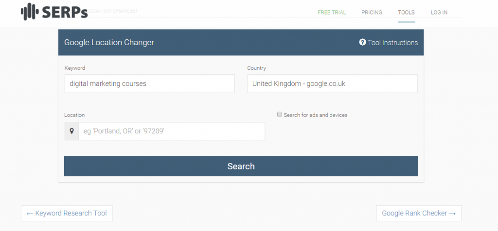 Google Location Changer