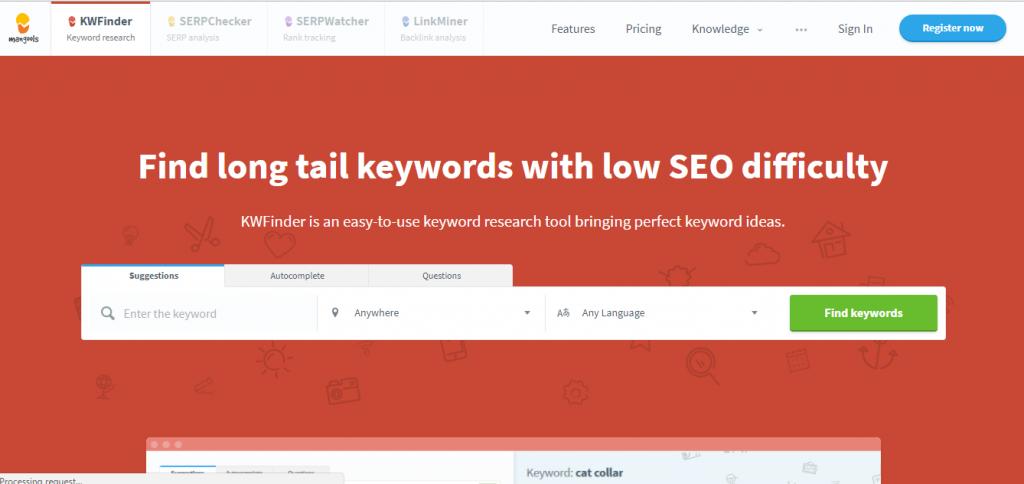Keyword finder - AdWords Alternative